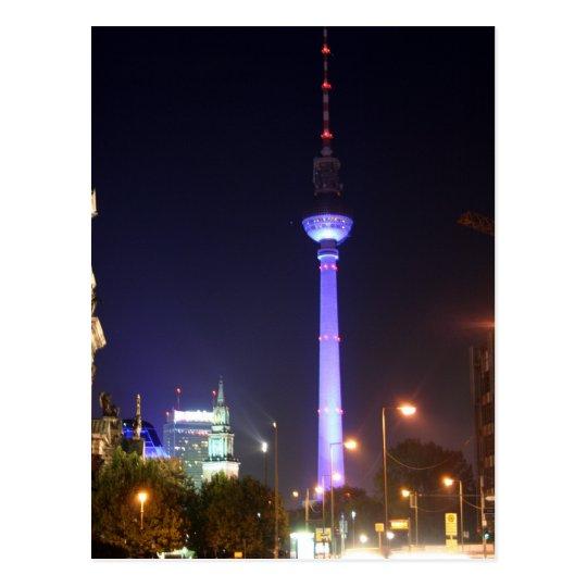 Fernsehturm berlinés postal