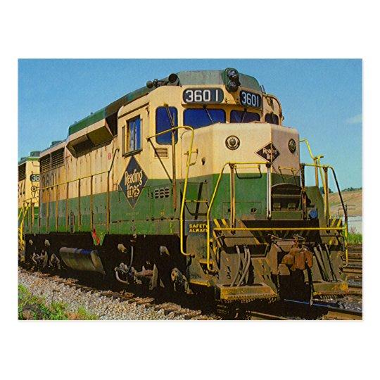 Ferrocarril GP-30 #3601 de la lectura Postal