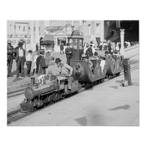 Ferrocarril miniatura en Coney Island, 1905 Poster