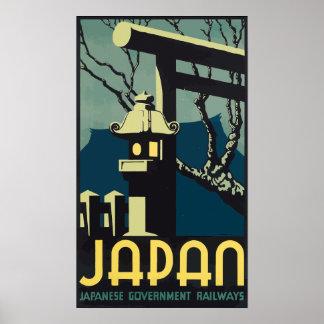 Ferrocarriles japoneses del gobierno de Japón, vin Posters