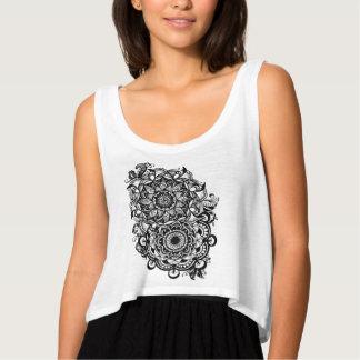 Fest floral de la música de la yoga de Boho del Camiseta Con Tirantes
