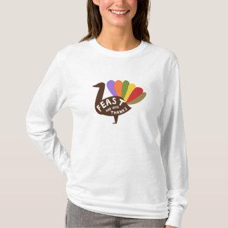 Festeje y dé las gracias camiseta