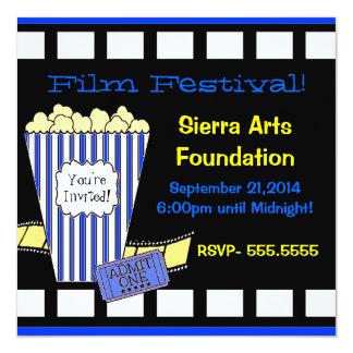 Festival de cine invitación 13,3 cm x 13,3cm