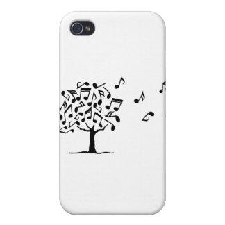 Festival de Grumo blanco y negro iPhone 4/4S Carcasa