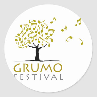 Festival de Grumo Etiquetas Redondas