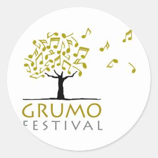 Festival de Grumo Pegatina Redonda