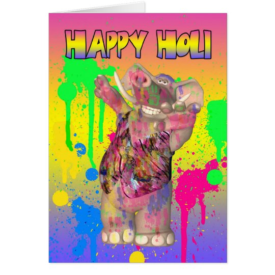 Festival de Holi Hai de la tarjeta de felicitación