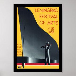 Festival de Leningrad de los artes Póster