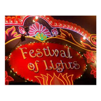 Festival de luces postal