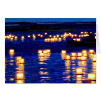 Festival flotante de la linterna tarjeta