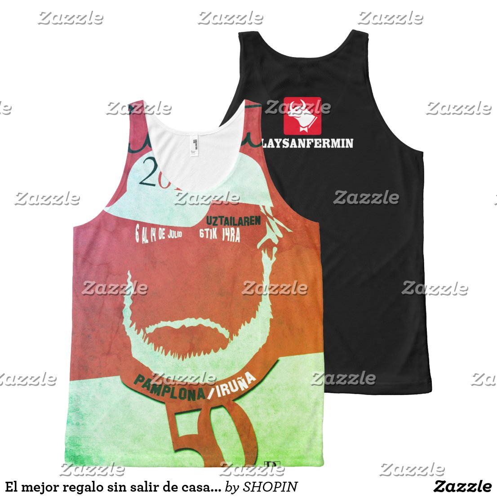 Festival of San Fermin Hemingway Tribute Camiseta De Tirantes Con Estampado Integral