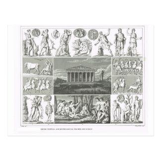 Festivales y mitología griegos postal