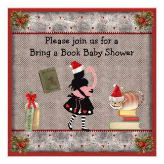 Festivo traiga un libro Alicia y la fiesta de bien Invitación