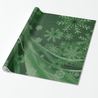 Festivo verde papel de regalo