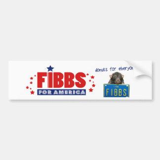 ¡FIBBS PARA AMÉRICA y los anillos de espuma para Pegatina Para Coche