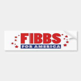 FIBBS PARA la pegatina para el parachoques de Pegatina Para Coche