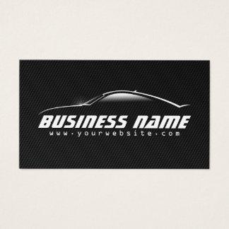 Fibra de carbono negra profesional del coche auto tarjeta de negocios