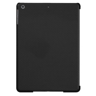 Fibra micro negra del agujerito carcasa iPad air