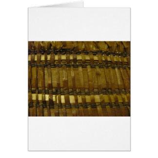 Fibras tejidas costa del nanovatio tarjeta de felicitación