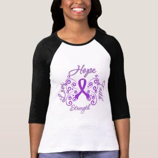 Fibromyalgia de la fuerza del amor de la fe de la camisetas