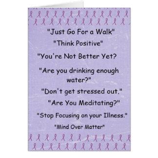 """Fibromyalgia púrpura """"cosas no diré""""   la tarjeta"""