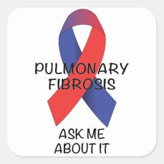 Fibrosis pulmonar pegatina cuadrada