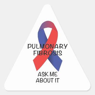 Fibrosis pulmonar pegatina triangular