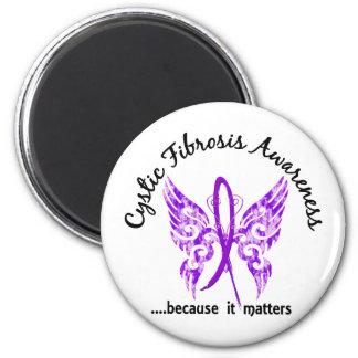 Fibrosis quística de la mariposa 6,1 del tatuaje d imán redondo 5 cm