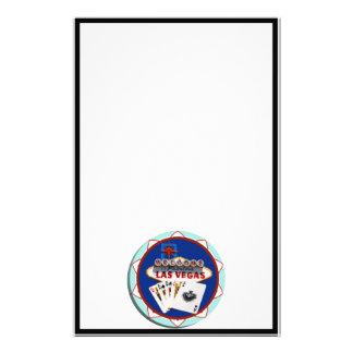 Ficha de póker azul del signo positivo de Las Papelería De Diseño