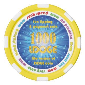 Ficha de póker de 1000 LDOGE Juego De Fichas De Póquer