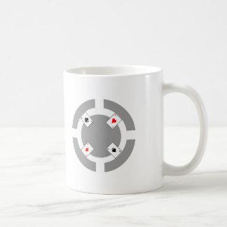 Ficha de póker - gris taza de café
