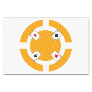 Ficha de póker - naranja papel de seda