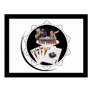 Ficha de póker negra del signo positivo postal