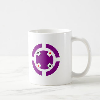 Ficha de póker - púrpura taza de café