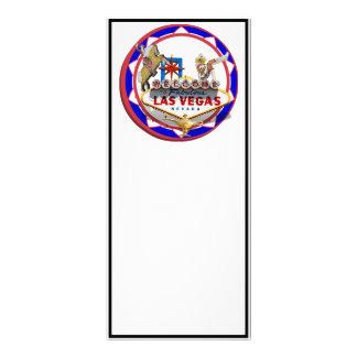 Ficha de póker roja y azul del signo positivo de L Tarjeta Publicitaria Personalizada