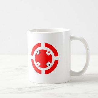 Ficha de póker - rojo taza de café