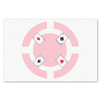 Ficha de póker - rosa papel de seda