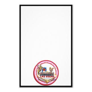 Ficha de póker rosada de Las Vegas Papelería Personalizada