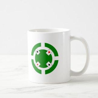 Ficha de póker - verde taza de café