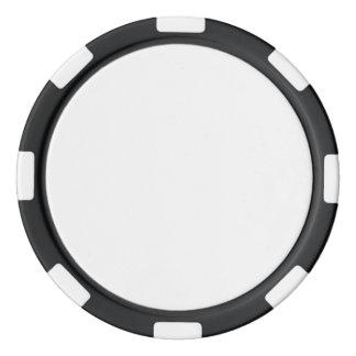 Fichas de póker con el borde rayado negro