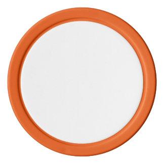 Fichas de póker con el borde sólido anaranjado