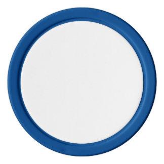 Fichas de póker con el borde sólido azul