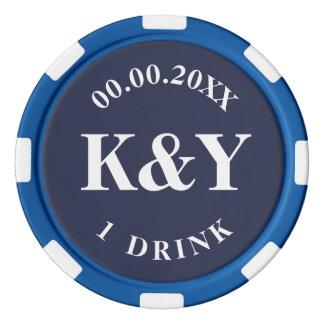 Fichas de póker de encargo del símbolo de la