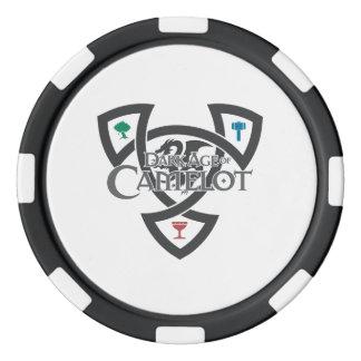 Fichas de póker de la arcilla del nudo de DAoC,