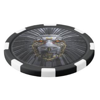 Fichas de póker de la arcilla del robot del león fichas de póquer