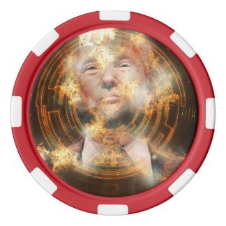 Fichas de póker de la arcilla del triunfo, borde