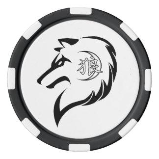 Fichas de póker de la edición del lobo de los MOR