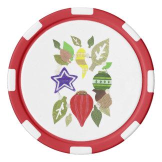 Fichas de póker de la guirnalda de la chuchería juego de fichas de póquer