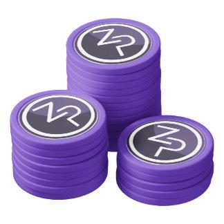 Fichas de póker del zPIV de PIVX, borde sólido