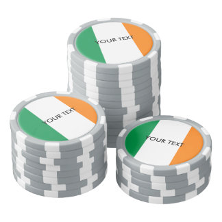 Fichas de póker irlandesas de encargo de la juego de fichas de póquer